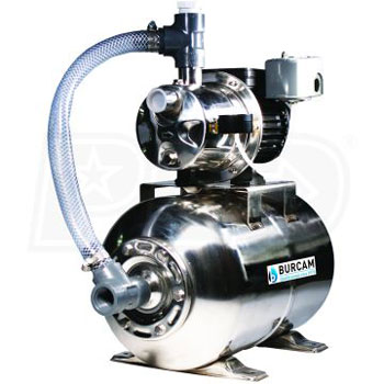 BURCAM 506547SS Stainless Steel Shallow Well Jet Pump System