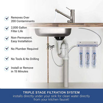 Clearly Filtered Kitchen Faucet Filtration
