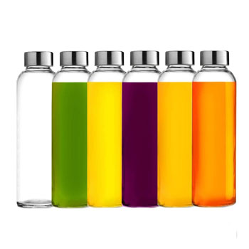 Brieftons Glass Water Bottles