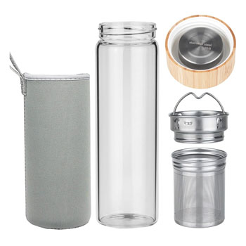 Origin Fruit and Tea Infuser Glass Water Bottle