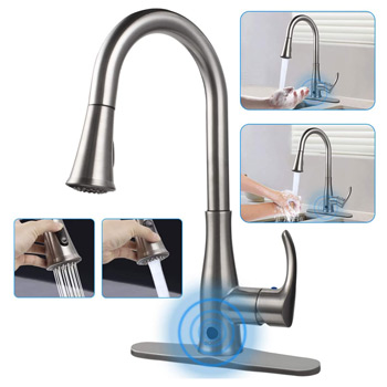 Soosi Kitchen Faucets with Pull Down Sprayer