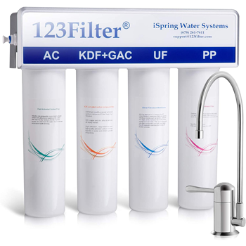 iSpring 4-stage Under Sink Water Filtration System