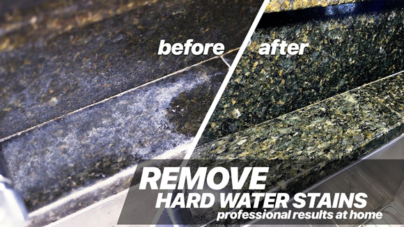 How to Safely Remove Hard Water Stains From Granite