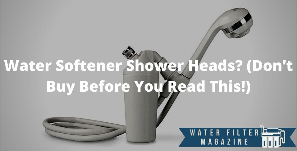 water softener shower heads
