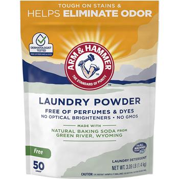 Arm & Hammer Odor Neutralizing Laundry Detergent Powder for Hard Water