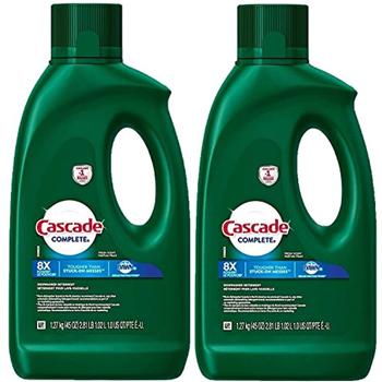 Cascade Complete Gel Dishwasher Detergent for Hard Water