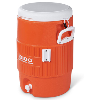 Igloo Portable Water Dispenser with Flat Seat Lid