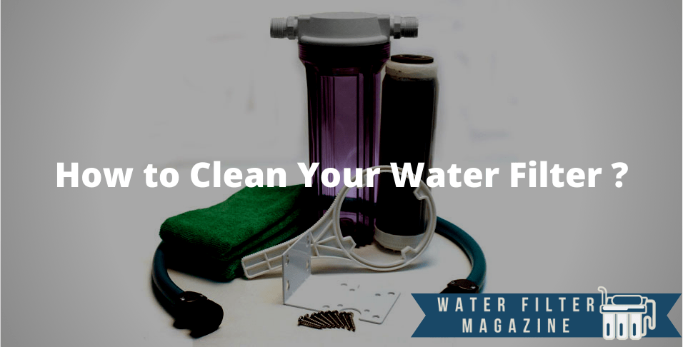 cleaning water filters