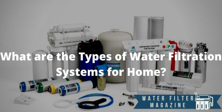 types of water filters