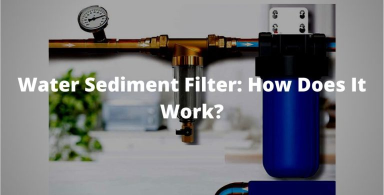 water sediment filter detailed explanation